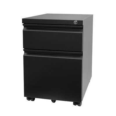 2 Drawer Rolling File Cabinet, Mobile File Cabinet For Under Desk, Metal Filing Cabinet With Lock For Letter, Legal, A4 File - Wayfair