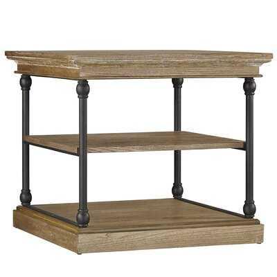 Poynor Floor Shelf End Table with Storage - Wayfair