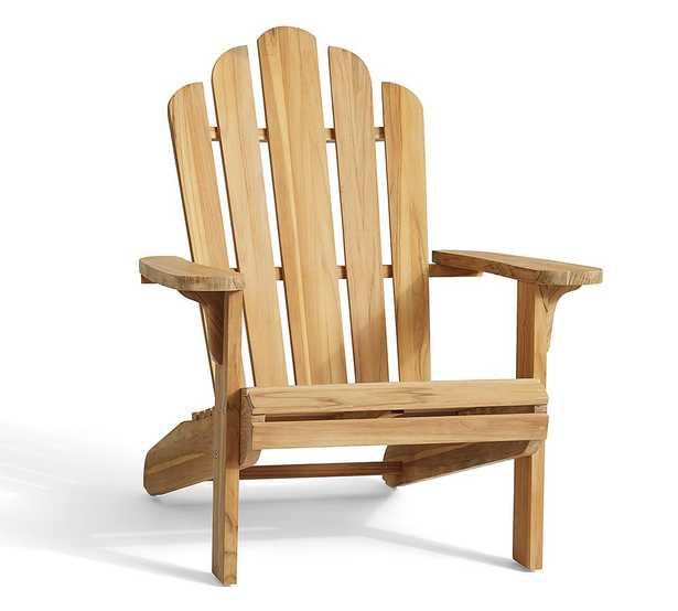 FSC(R) Teak Adirondack Chair, Natural - Pottery Barn