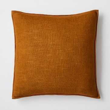 """Classic Linen Pillow Cover, 20""""x20"""", Golden Oak - West Elm"""