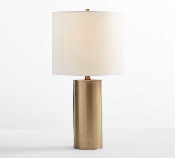 Stella USB Table Lamp, Antique Brass - Pottery Barn