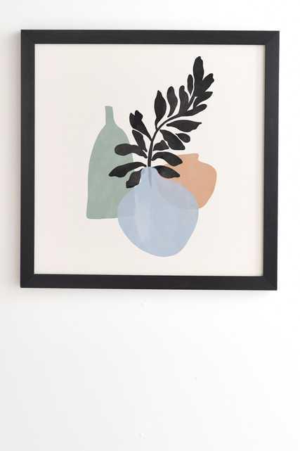 "Sea Glass Vases by Gale Switzer - Framed Wall Art Basic Black 30"" x 30"" - Wander Print Co."