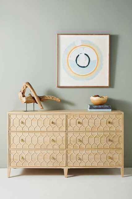 Textured Trellis Six-Drawer Dresser - Anthropologie