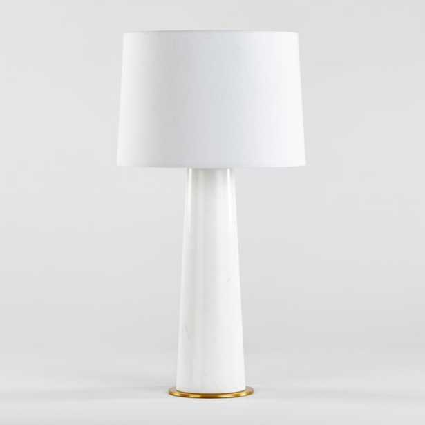 Vestbirk Marble Table Lamp- single - Crate and Barrel