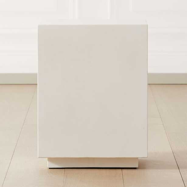 Matter Ivory Cement Square Side Table - CB2
