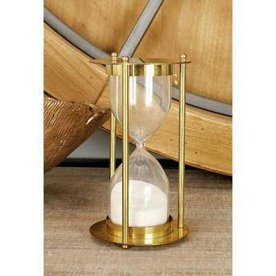 Doorfield Brass Glass Sand Timer Hourglass - Wayfair