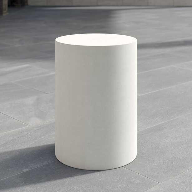 Seasonal Living Ben Concrete Side Table Color: Ivory White - Perigold