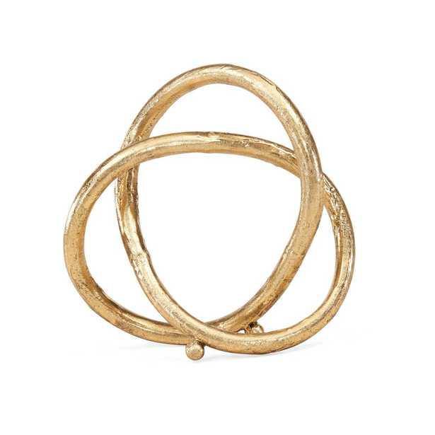 Gold Eternal Loop Metal Sculpture - Home Depot