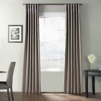 Oakledge 100% Cotton Room Darkening Thermal Rod Pocket Single Curtain Panel - Birch Lane