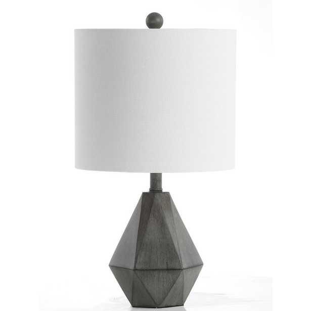 Safavieh Vaughn 18 in. Dark Gray Table Lamp - Home Depot