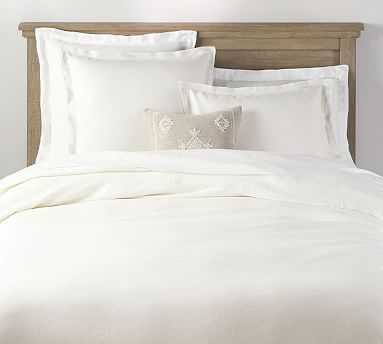 Belgian Flax Linen Double Flange Duvet Cover, King,/Cal King, Classic Ivory - Pottery Barn