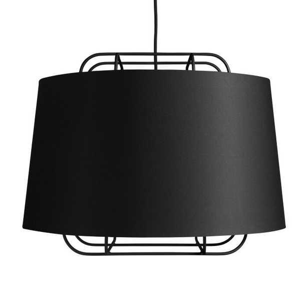 Blu Dot Perimeter Large 1-Light Single Drum Pendant Finish: Black - Perigold