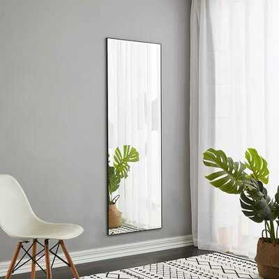 Full Length Mirror Floor Mirror Hanging Standing Or Leaning, Bedroom Mirror Wall-Mounted Mirror With Aluminum Alloy Frame - Wayfair