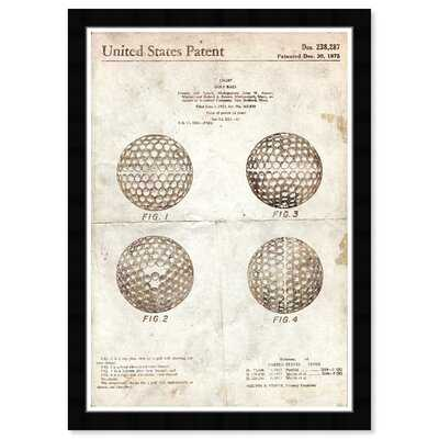 Golf Ball 1975 Parchment - Picture Frame Graphic Art Print on Paper - Wayfair