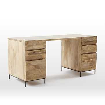 Industrial Storage Modular Desk, Set 2: Desk + 2 Box File - West Elm
