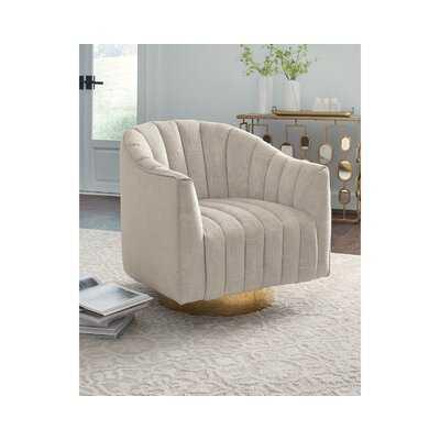 "Neveah 29.5"" Wide Polyester Swivel Barrel Chair - Wayfair"