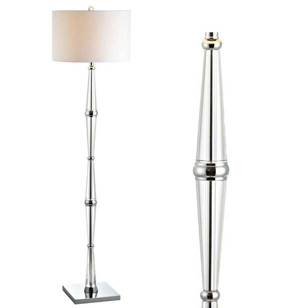 JONATHAN Y Francine 60 in. Chrome/Clear Crystal Floor Lamp - Home Depot