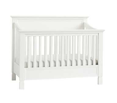 Larkin 4-In-1 Convertible Crib &Lullaby Supreme Mattress Mattress Set, Simply White - Pottery Barn Kids