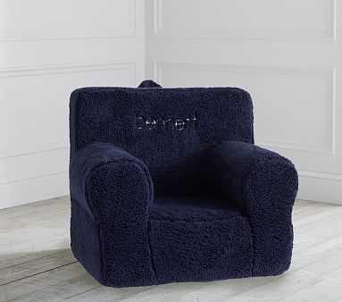 Navy Cozy Sherpa Anywhere Chair(R) - Pottery Barn Kids