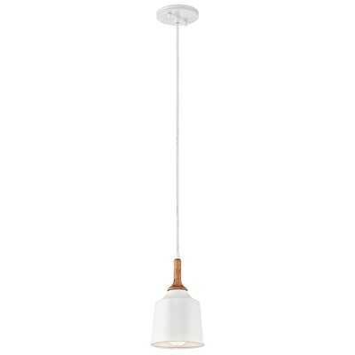 Ayana 1 - Light Single Bell Pendant with Wood Accents - AllModern