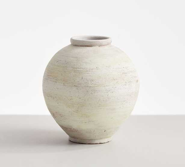 Artisan White Vase Collection, Short Round, White - Pottery Barn