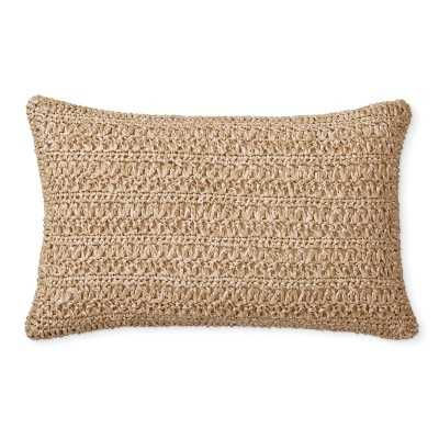 """Outdoor Faux Natural Pillow Cover, 14"""" X 22"""", Natural - Williams Sonoma"""