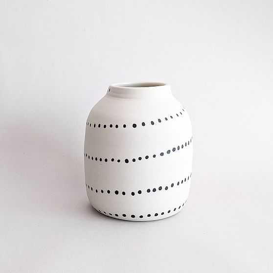 Btw Ceramics Dot Bud Vase, Porcelain, White - West Elm