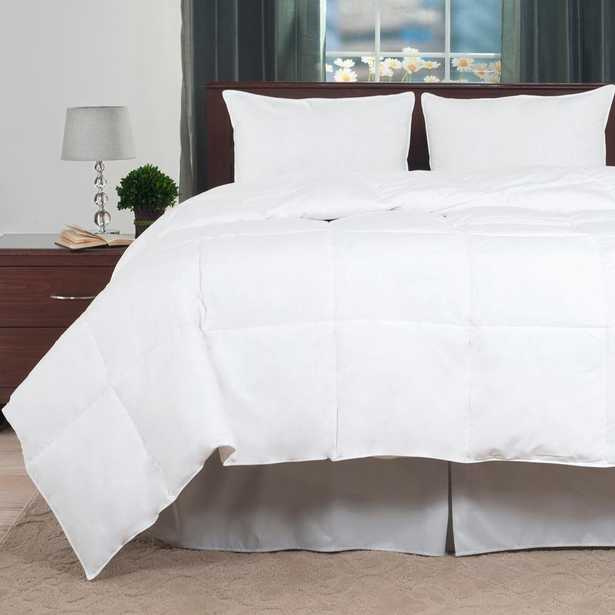 White Feather Down King Comforter - Home Depot