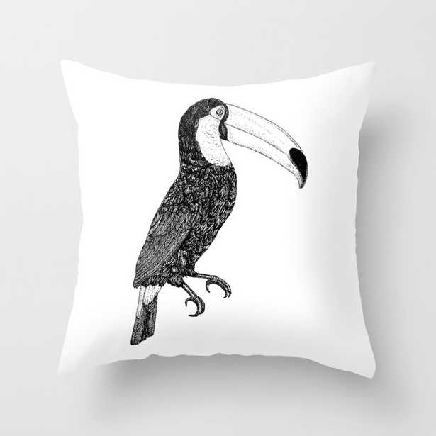 """Toco - Black And White Couch Throw Pillow by Florent Bodart / Speakerine - Cover (20"""" x 20"""") with pillow insert - Indoor Pillow - Society6"""