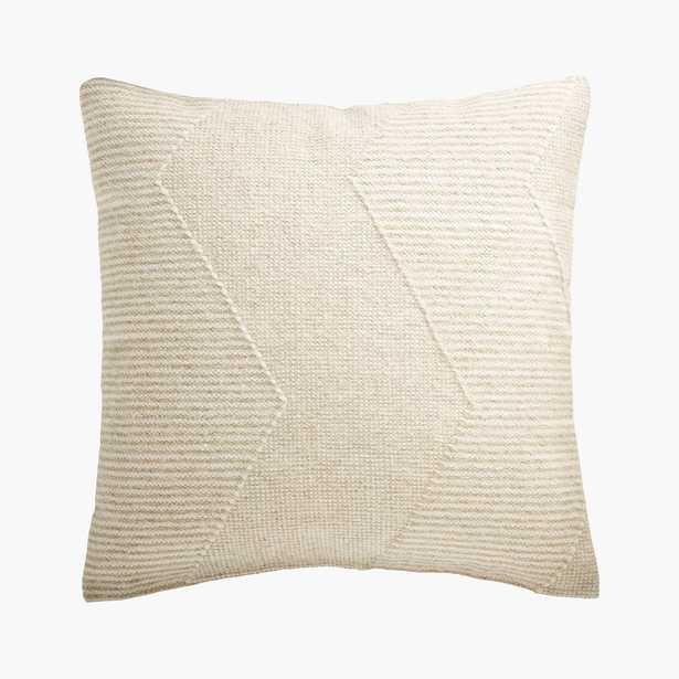"Bias Pillow, Feather-Down Insert, Natural, 23"" x 23"" - CB2"
