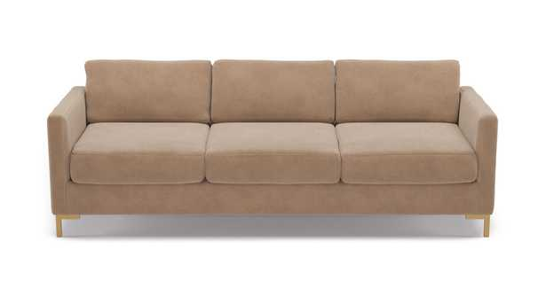 Modern Sofa | Sand Velvet - The Inside