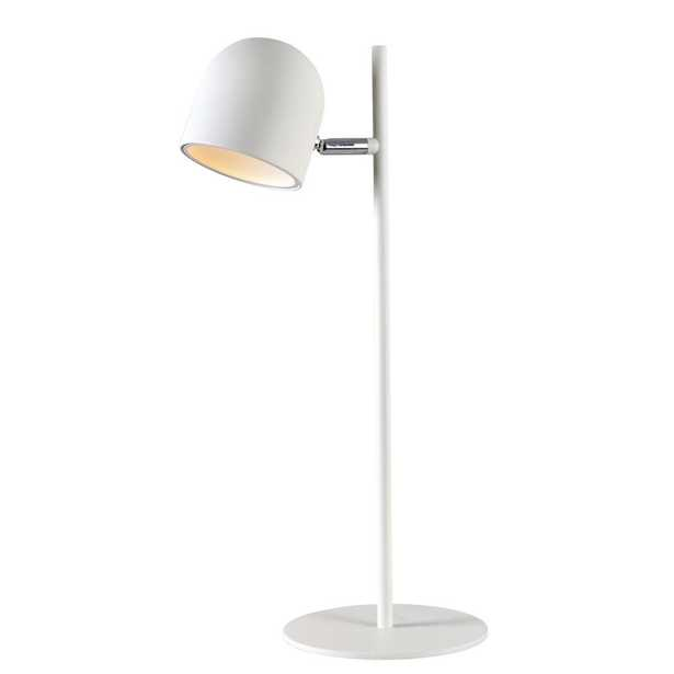 Kenroy Home Vidal 18 in. White Desk Lamp with Metal Shade - Home Depot