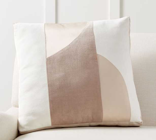 """Pieced Abstract Pillow, 20 x 20"""", Neutral Multi - Pottery Barn"""