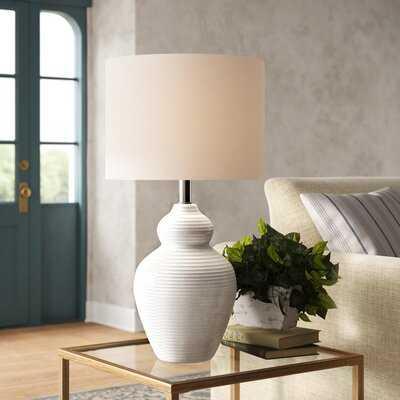 """Bechard 27.5"""" White Table Lamp - Birch Lane"""