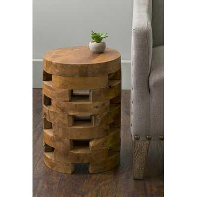 Bandla Solid Wood Drum End Table - Wayfair