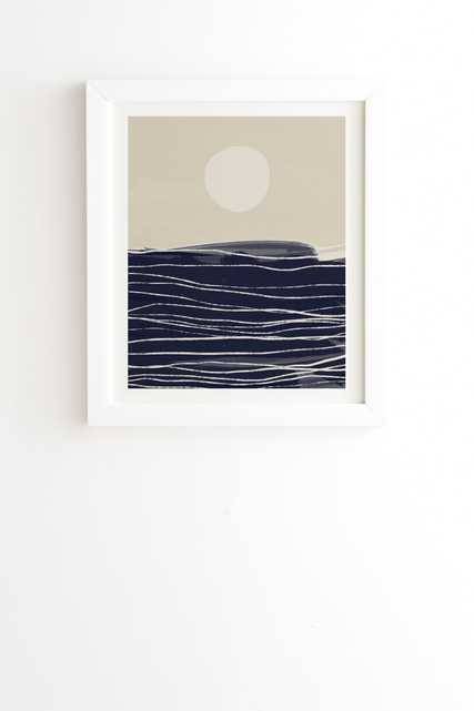 """Abstract Seascape 2 by Alisa Galitsyna - Framed Wall Art Basic White 20"""" x 20"""" - Wander Print Co."""