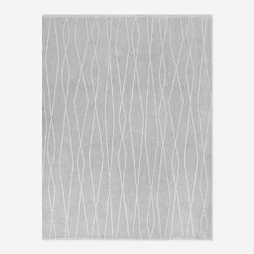 Safi Rug, Frost Gray, 8'x10' - West Elm