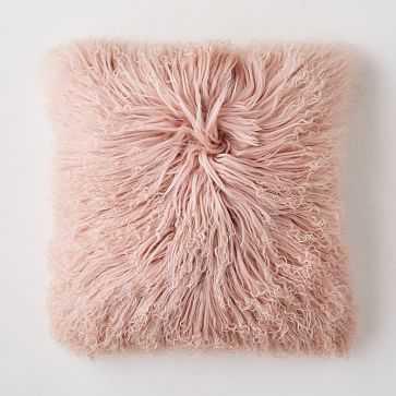 "Mongolian Lamb Pillow Cover, 16""x16"", Rosette - West Elm"