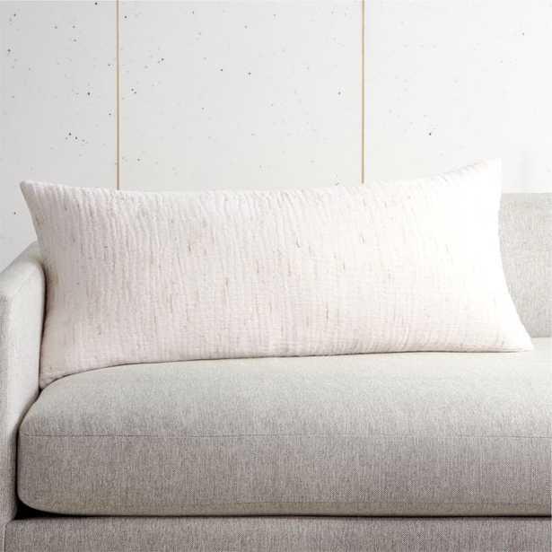 "36x16"" Nett Ivory Pillow with Down-Alternative Insert - CB2"