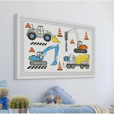Selma The Big Trucks Framed Art - Wayfair