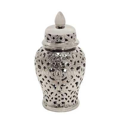 Akimos Silver Indoor / Outdoor Ceramic Jar - Wayfair