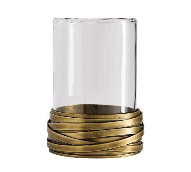 Amelia Brass Hurricane Candle Holder, Brass - Pottery Barn