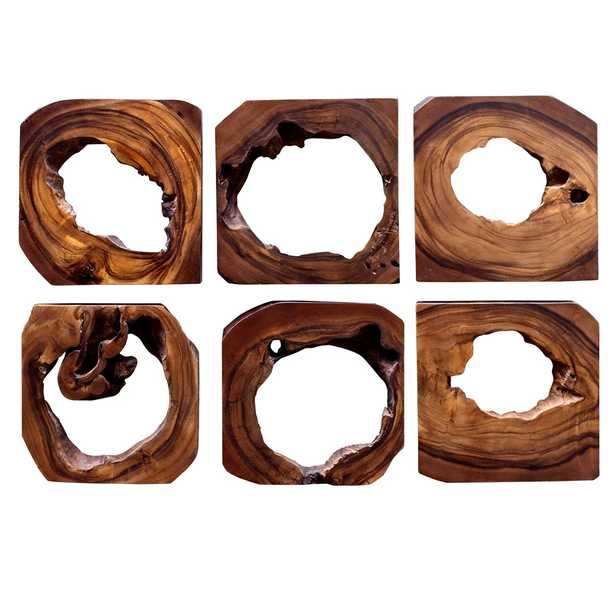 "Adlai Wood Wall Art, 12"" x 12"", Set of 6 - Hudsonhill Foundry"