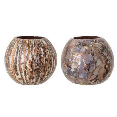 "2 piece 3"" Coco Shell Tabletop Holder - Birch Lane"