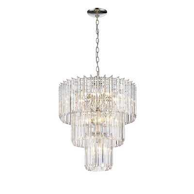 Modern Crystal Chandelier, Flush Mount Ceiling Light Fixture, Pendant Lamp Lights For Dining Room, Living Room - Wayfair