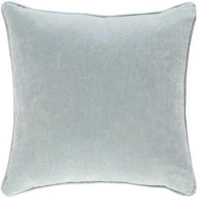 "Rollins Cotton 18"" Throw Pillow Cover - Birch Lane"
