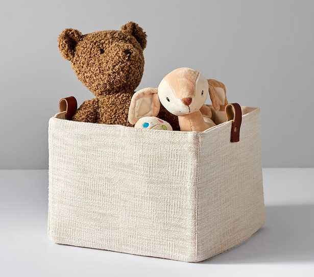 Linen and Leather Storage, Small - Pottery Barn Kids