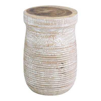 Brochu Solid Wood Drum End Table - Wayfair