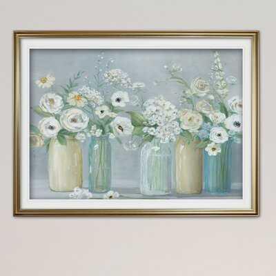 'Blooming Meadow Beauties' Watercolor Painting Print on Wrapped Canvas - Wayfair