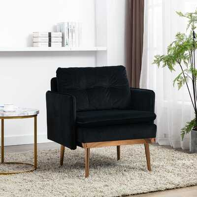 Accent Velet Chair With Square Arm - Wayfair